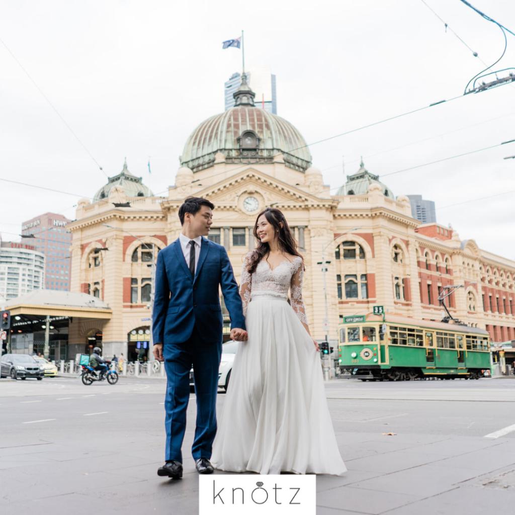 Melbourne city pre wedding