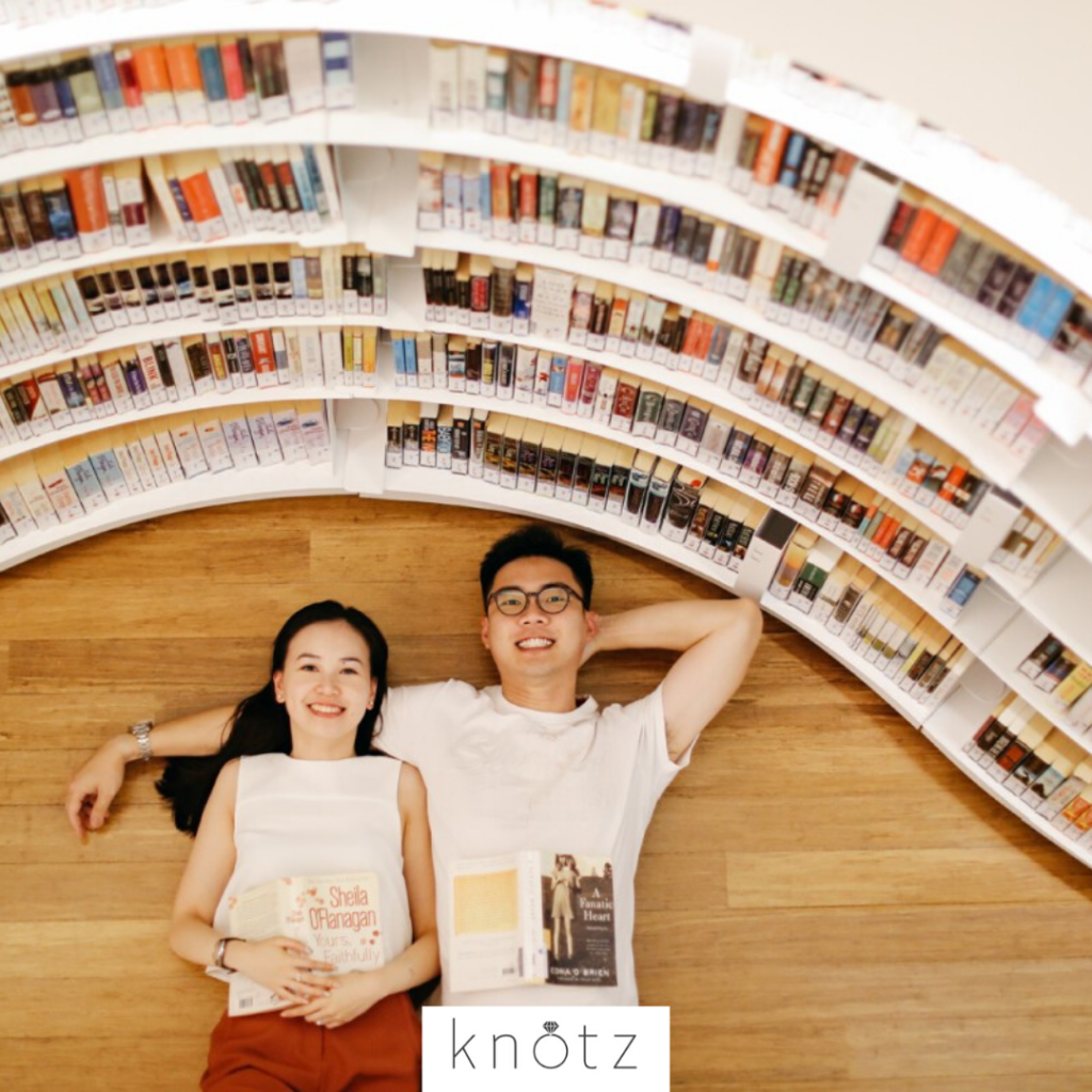 library pre wedding shoot