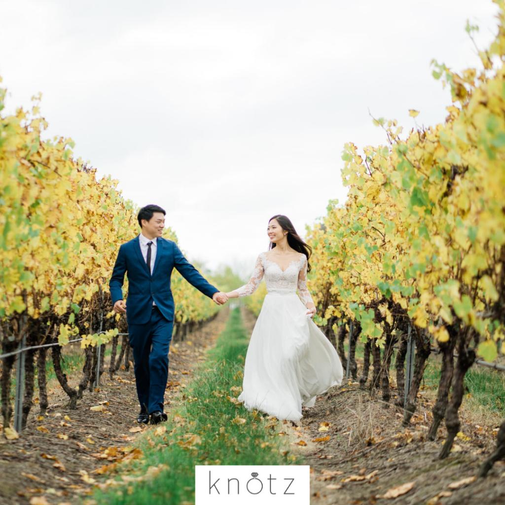 Melbourne vineyard pre wedding
