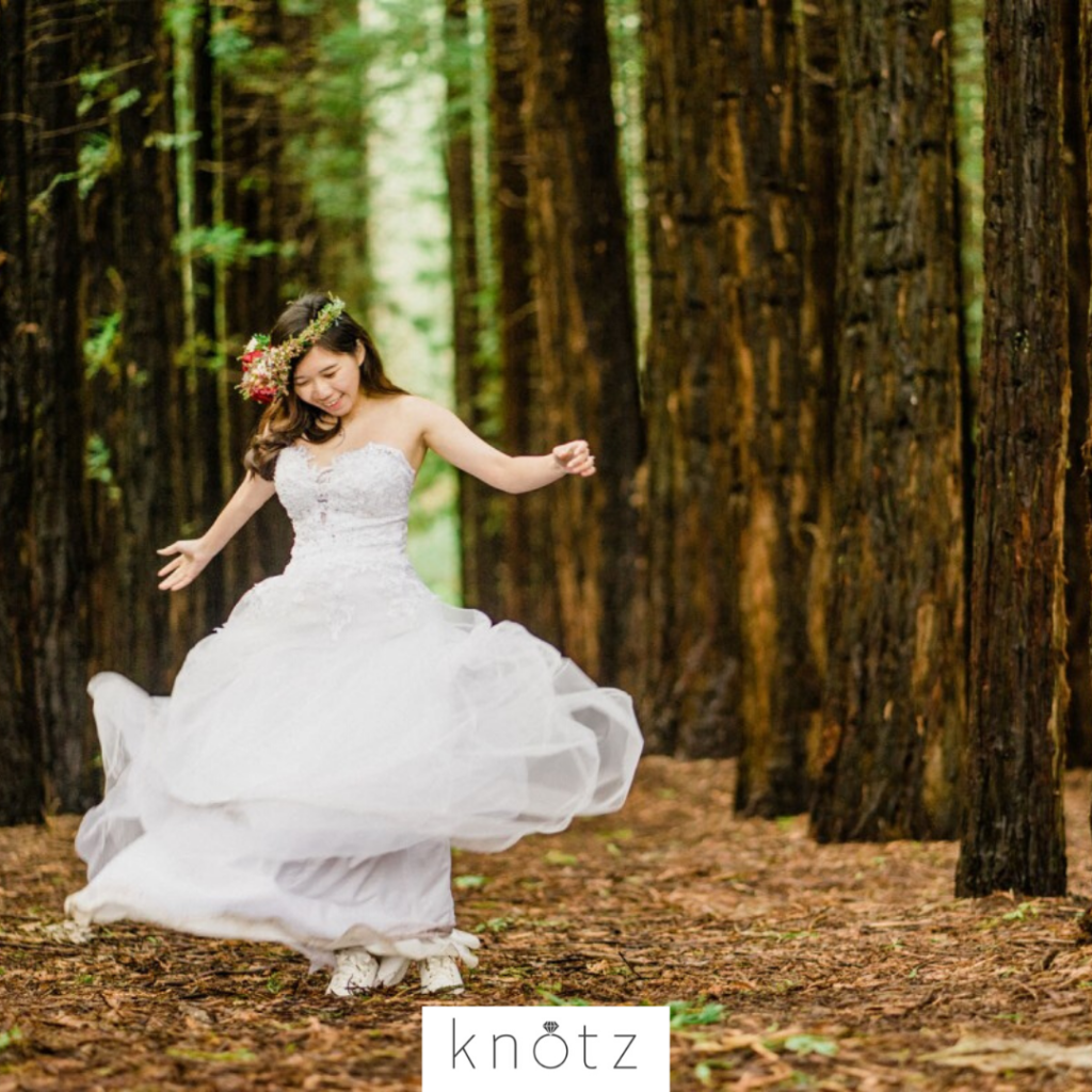 Woodland romance pre wedding
