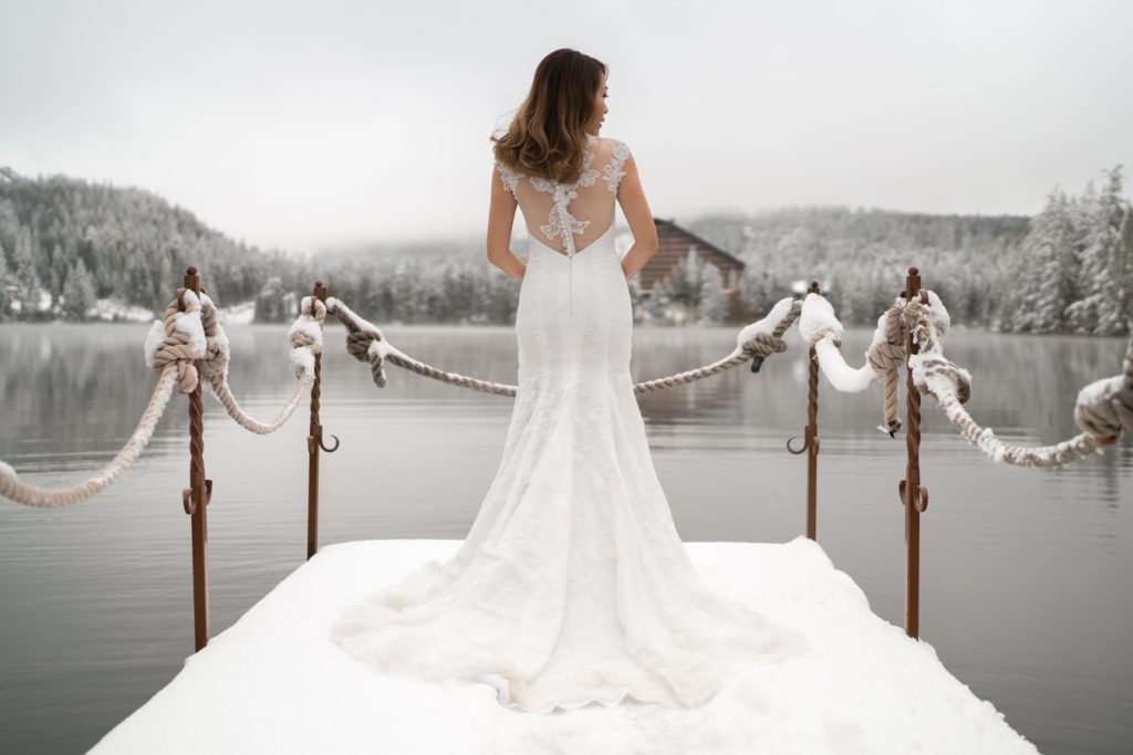 Winter wedding photoshoot