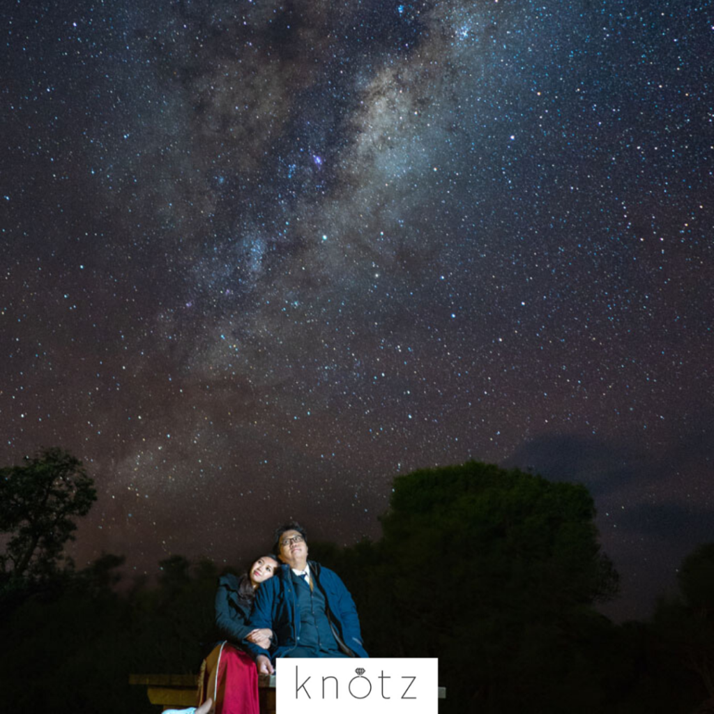 milky way outdoor pre wedding shoot