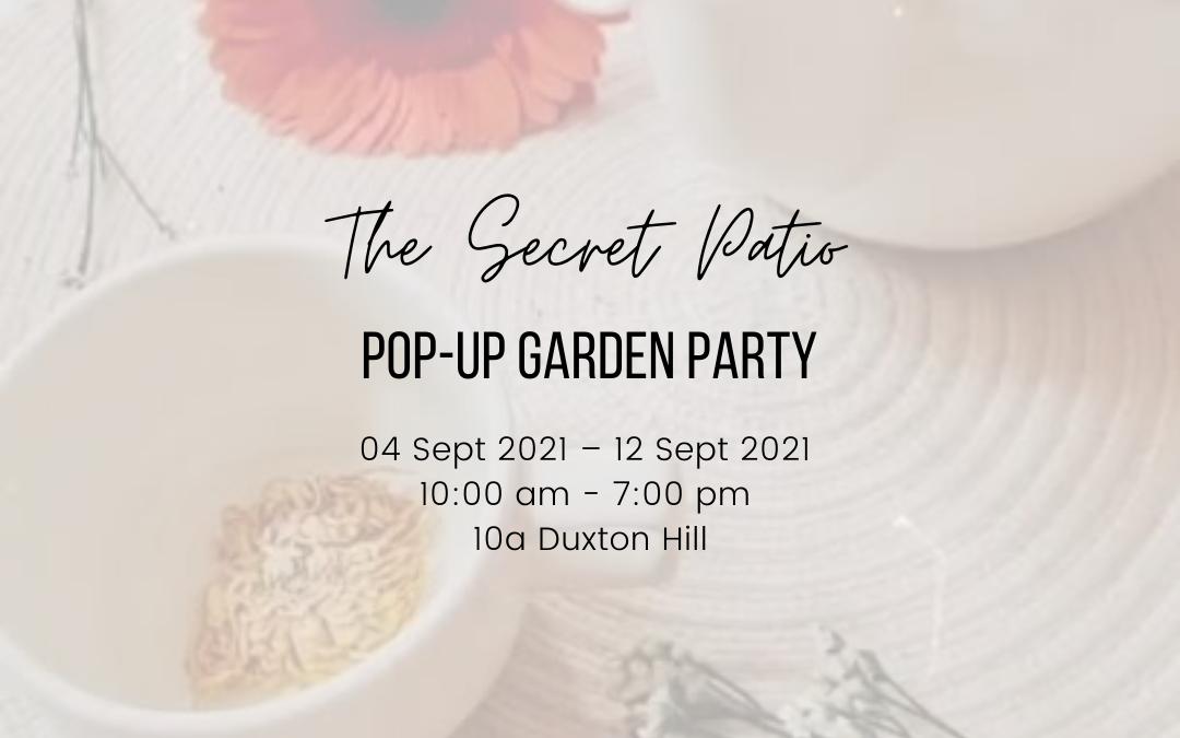 Garden Party Picnic Pop – Up @ The Secret Patio