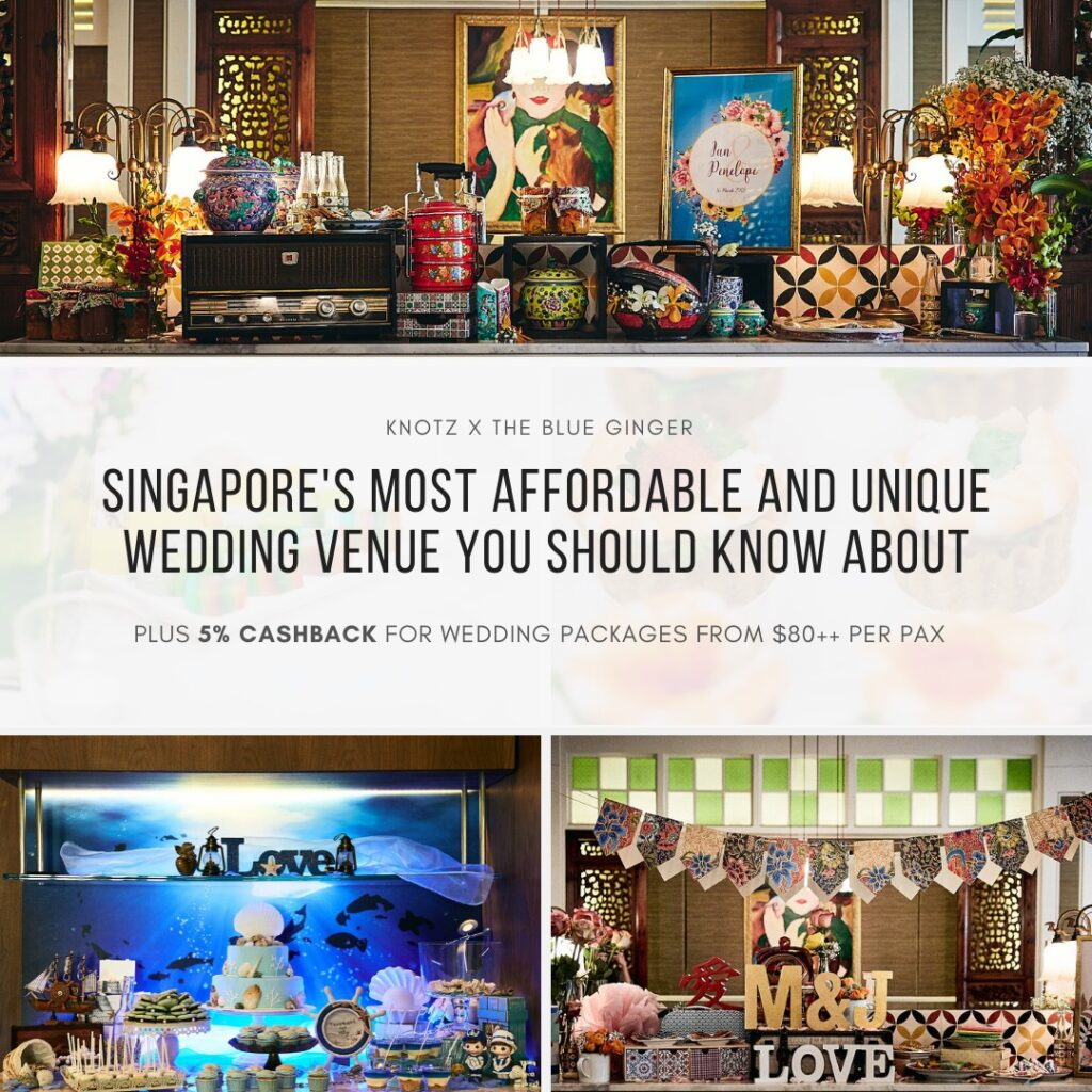 The Blue Ginger Peranakan wedding restaurant