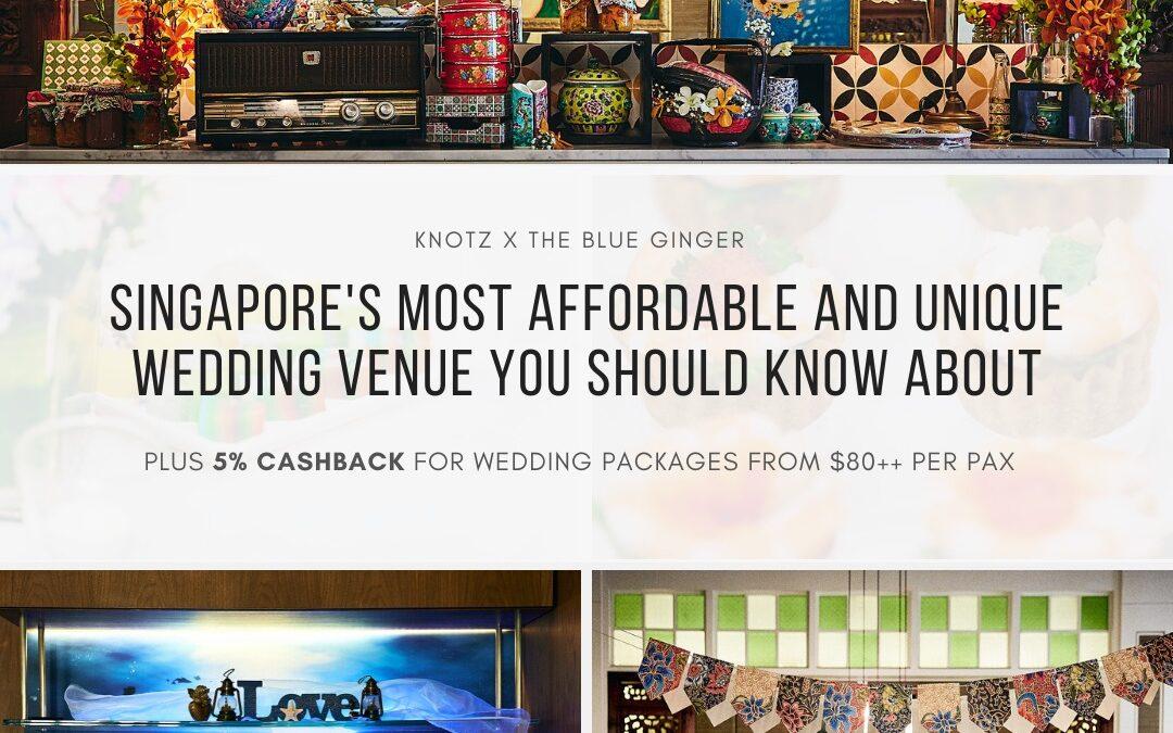 The Blue Ginger Peranakan wedding restaurant
