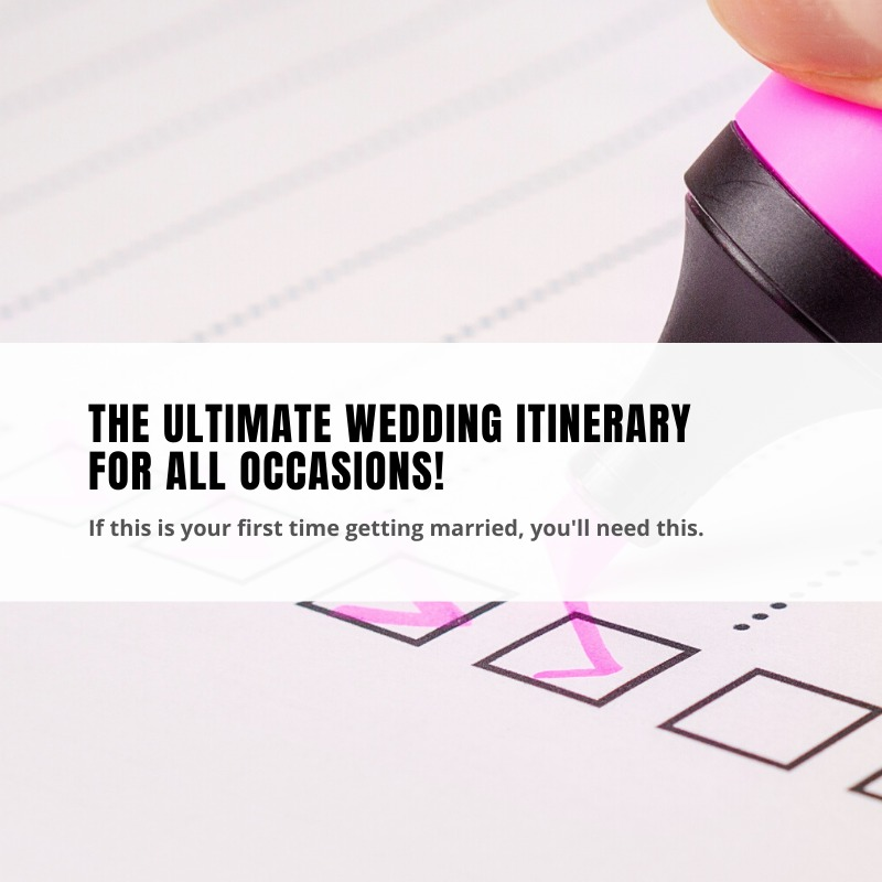 knotz ultimate wedding itinerary