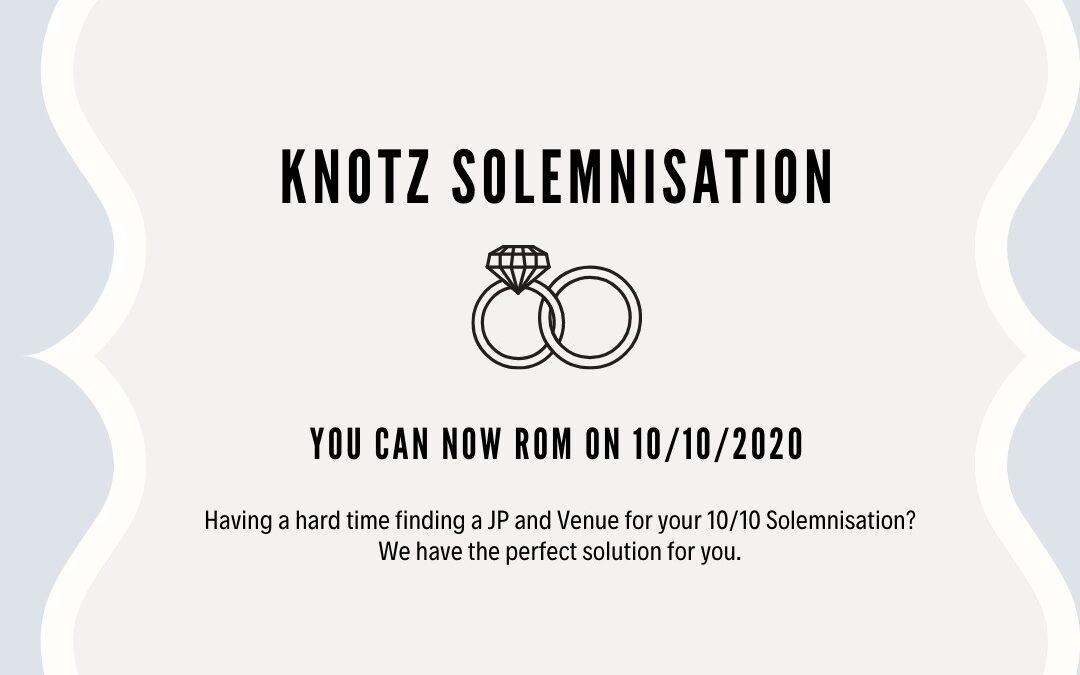 Knotz solemnisation 10 Oct
