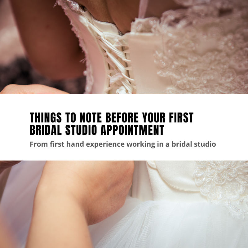 Top 10 things to note before your first bridal appointment