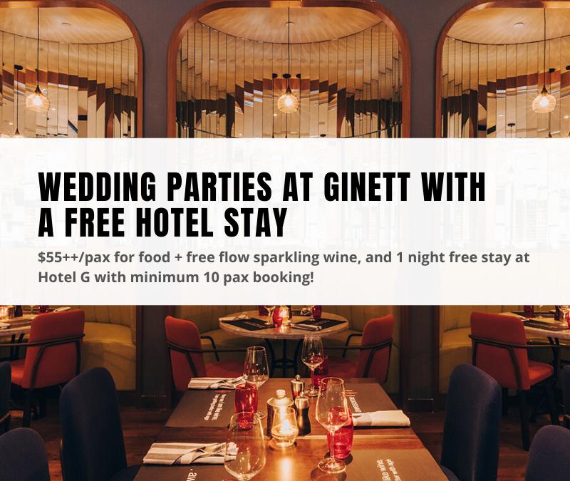 Ginett restaurant wedding parties