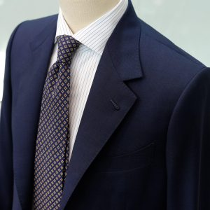 Collaro blue suit with Milanese buttonhole